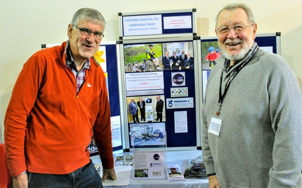 Gethin Jenkins and David Sparrey at the Ledbury Community Day