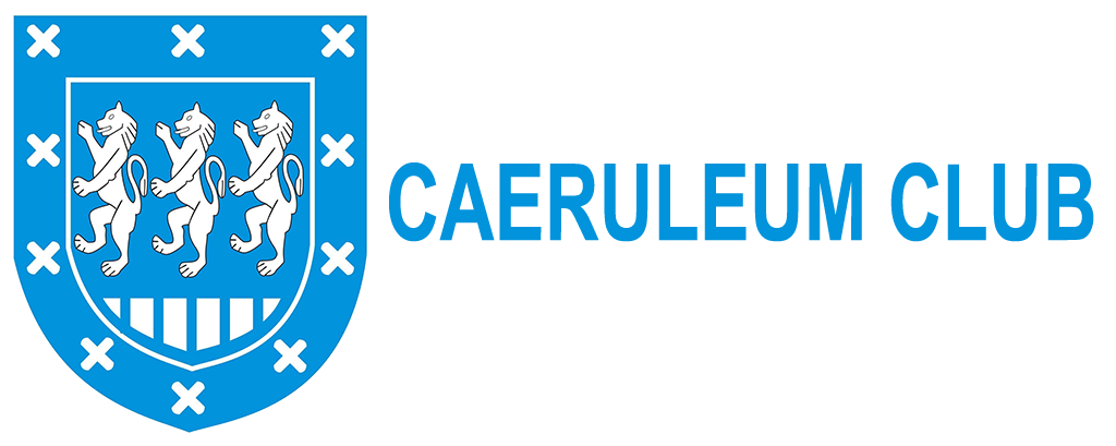 Caeruleum Club or Light Blues club shield. The shield has an inner shield in the centre of which are three lions rampant. The external border has 10 crosses around it.
