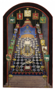 Miniature Royal Arch-tracing board I JohnHarris1844 ©Museum of Freemasonry