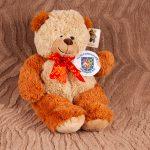 Teddies for loving care Teddy bear holding Herefordshire Freemasons logo